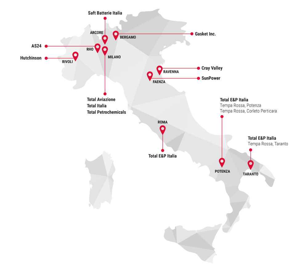 TotalEnergies mappa Italia